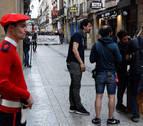 El rodaje de la serie 'Patria' en San Sebastián devuelve a ETA a la vida