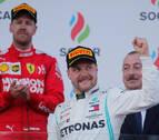 Bottas domina el GP de Azerbaiyán y sale de Bakú como líder del Mundial