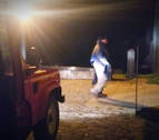 Los bomberos rescatan a un peregrino que se encontraba agotado en Izandorre