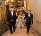 El Ángel de Aralar visita el Palacio de Navarra