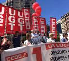 Sindicatos navarros piden en el Primero de Mayo la recuperación de derechos