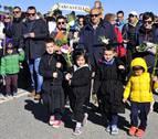 Ujué recibe a más de 500 romeros de Olite, Figarol, Carcastillo y Mélida