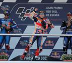 Márquez lidera el triplete español de MotoGP y es nuevo líder