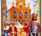 La fachada del Ayuntamiento, protagonista del cartel de San Fermín 10 años después