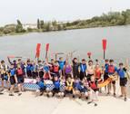 Los 'dragones' de Tudela ya surcan el Ebro