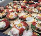 Minipizzas sanísimas de berenjena
