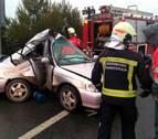 Dos heridos en sendos accidentes de tráfico en Castejón y Lizoáin