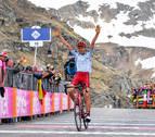 El ruso Zakarin priva al navarro Mikel Nieve del triunfo en el Giro