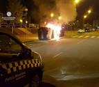 Arden varios contenedores en distintas calles de la Milagrosa