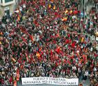 Miles de manifestantes exigieron que no se negociara sobre Navarra