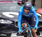 Richard Carapaz, baja para La Vuelta por una contusión en el hombro