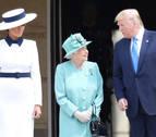 Isabel II recibe a Trump en Buckingham en el arranque de su visita de Estado
