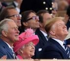 Isabel II y Trump homenajean a veteranos de Normandía en su 75 aniversario
