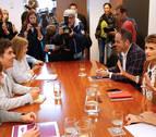 Calvo y Ábalos avisan al PSN que los pactos los decide la dirección federal del PSOE
