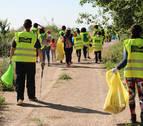 Florette organiza una jornada de 'plogging' para limpiar los márgenes del río Aragón