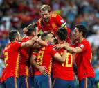 España golea a Suecia para seguir en lo más alto del grupo