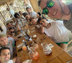 La plantilla al completo de Osasuna disfruta de las vacaciones en Ibiza