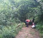 Rescatada en Erratzu una senderista con una posible fractura de tobillo