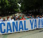 Los agricultores de Tierra Estella llevan el Canal al Parlamento