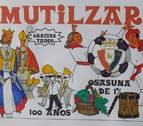 La pancarta de la Peña Mutilzarra evita las críticas y homenajea las fiestas