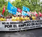 Cerca de medio millar de personas pide en Madrid una solución de futuro para Alcoa