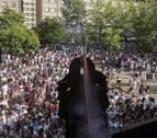 Un cohete feminista y a 36 grados para abrir las fiestas de Barañáin