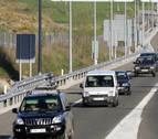 Retenciones en sentido Pamplona tras tres accidentes consecutivos en la A-15