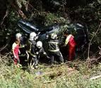 Trasladada al CHN una persona herida en un accidente en la N-135