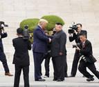 Histórico encuentro entre Donald Trump y Kim Jong Un en la frontera intercoreana