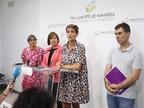María Chivite, más cerca de la presidencia de Navarra, a la espera de los votos de Bildu