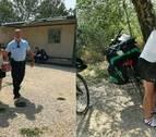 Una peregrina francesa sufre una caída en bicicleta entre Estella y Los Arcos