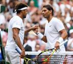 Nadal se planta en octavos de Wimbledon arrollando a Tsonga