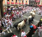 'Pitinesco' se descuelga y cornea en un multitudinario primer encierro con los Puerto de San Lorenzo