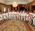 Recepción en Pamplona a una delegación de Bayona en el día de las ciudades hermanas