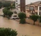 Vídeos e imágenes de las inundaciones en Navarra