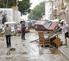 Decenas de viviendas, locales y coches, siniestro total en Tafalla