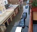 Calles cerradas en San Adrián, Pueyo sin accesos y granizo en Corella, Zizur...