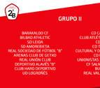 Los tres equipos navarros de Segunda División B encuadrado en el Grupo II