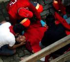 Parte del cuarto encierro: un joven de Allo, entre los cuatro heridos por los Jandilla
