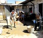Testimonios de los vecinos afectados por la riada en Olite