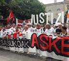 Concentración en Pamplona para pedir la libertad de los condenados de Alsasua