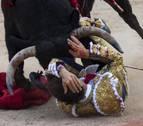 Amargo debut del torero navarro Javier Marín en San Fermín