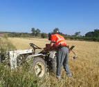 Fallece un agricultor de Cascante tras caer del tractor en un camino de Tulebras