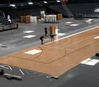 La metamorfosis del Navarra Arena para el amistoso de la selección de baloncesto