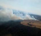 El Gobierno de Navarra da por controlado el incendio de Bardenas