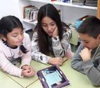 Periodistas desde el colegio en Peralta
