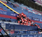 Así avanzan las obras de reforma del estadio de El Sadar