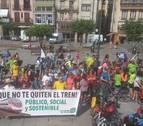 Una marcha ciclista rechaza en Pamplona el