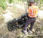 Herido muy grave un motorista en un accidente en Tafalla