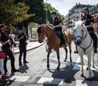 Policías a caballo, también en las fiestas de Tudela